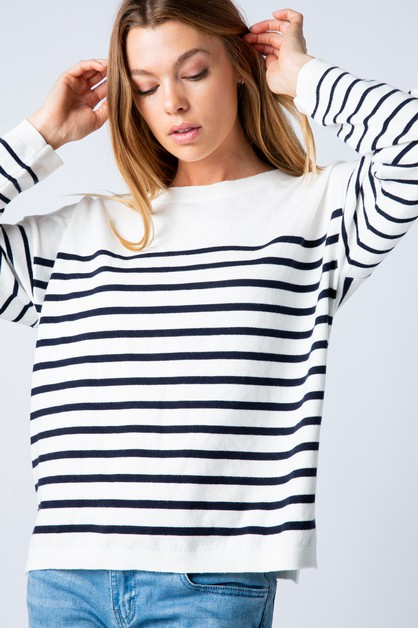 STRIPE SWEATER KNIT - orangeshine.com