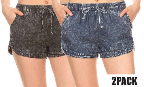 2 packs Black Blue Shorts Casual  - orangeshine.com