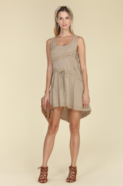 Sleeveless Textured Dress - orangeshine.com