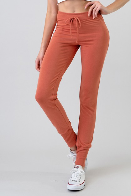 RIB BAND LEGGINGS PANTS - orangeshine.com