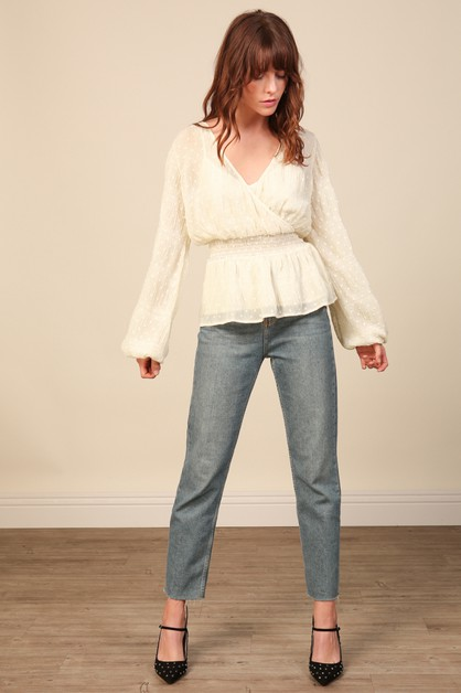 Kate Chiffon Overlay Top - orangeshine.com