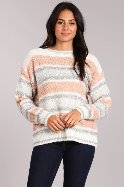 Multicolor Sweater Top - orangeshine.com