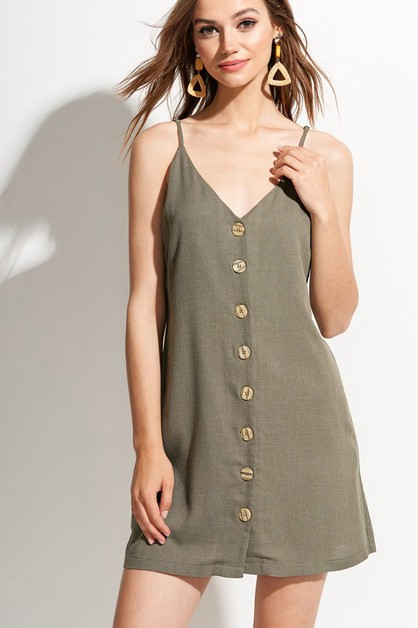 Venice Button Down Cami dress - orangeshine.com
