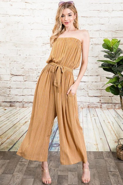 ETHNIC STRIPED CROPPED JUMPSUIT - orangeshine.com