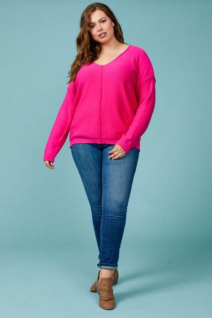 7288236a2c98 Sweater Pullover with Raw Seam Detai - orangeshine.com