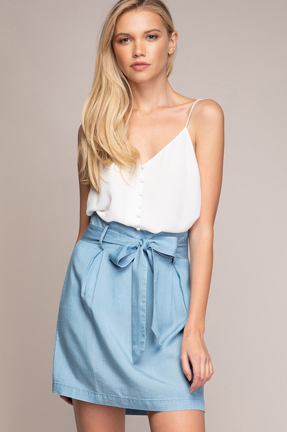 MINI HIGH WAIST PLEATED SKIRT - orangeshine.com