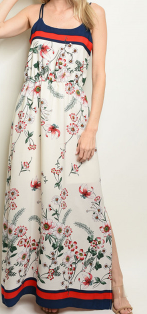 Long Printed Dress - orangeshine.com