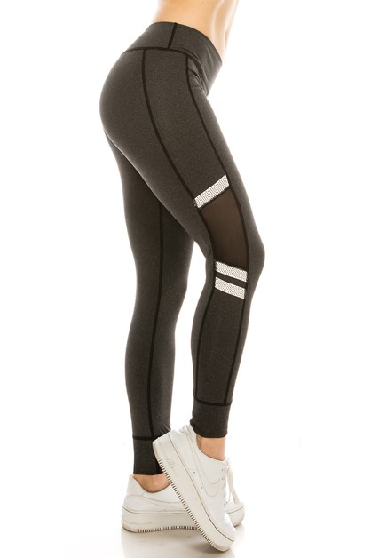 Mesh panel yoga legging - orangeshine.com