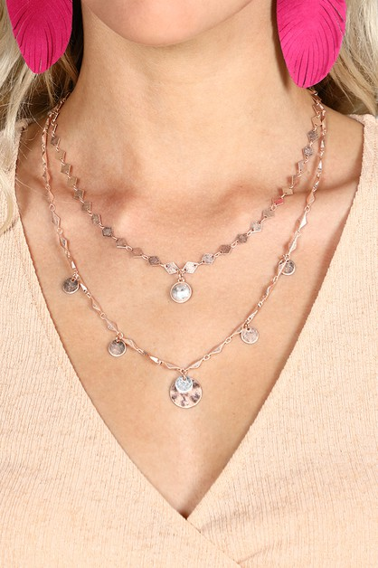 Layered Charm Necklace  - orangeshine.com