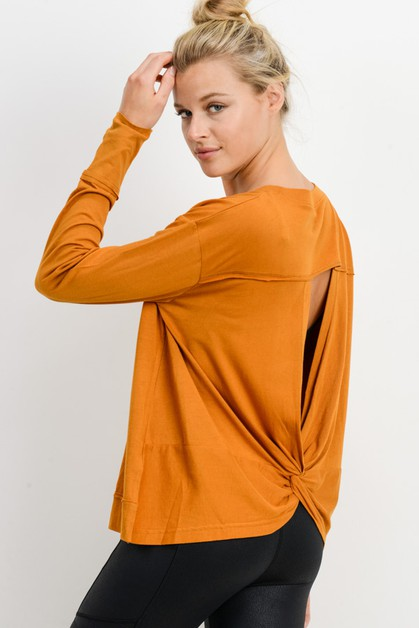 Overlay Twist Cut-Out Back Top - orangeshine.com