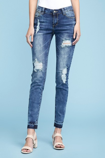 DISTRESSED DENIM JEANS AMP-140 - orangeshine.com