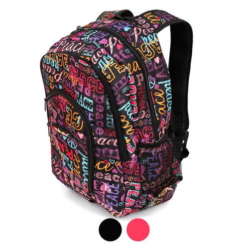 Peace Lettering School Backpack - orangeshine.com