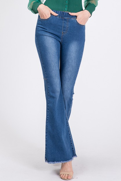 BELL BOTTOM DENIM PANTS - orangeshine.com