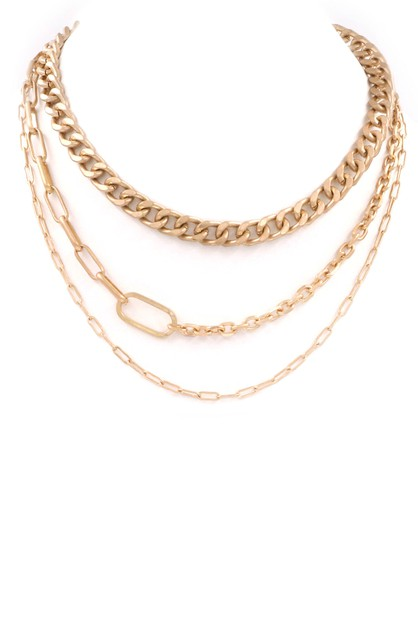 Metal Chain Necklace - orangeshine.com