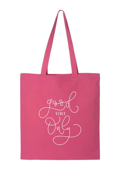 GOOD VIBES ONLY TOTE BAG - orangeshine.com