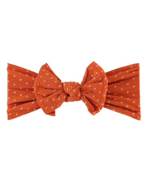 Pumpkin Dot Baby Knot Headband - orangeshine.com