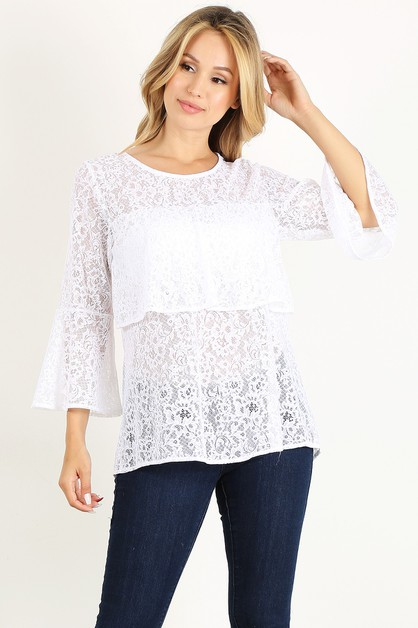 lace keyhole top - orangeshine.com