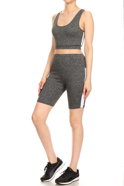 2 pieces Activewear Set Biker Shorts - orangeshine.com