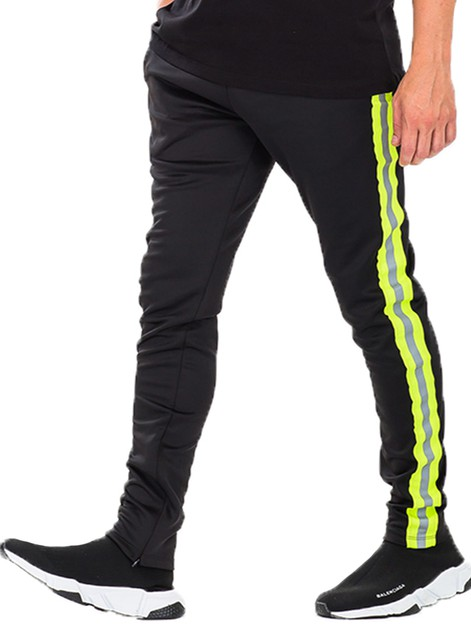 Reflective Tape Track Pants  - orangeshine.com