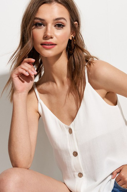Button Down Camisole Top - orangeshine.com