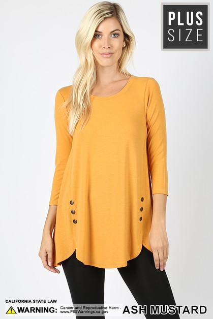 PLUS PREMIUM RAYON W SIDE BUTTON TOP - orangeshine.com