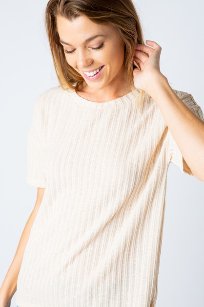 RIB KNIT TOP - orangeshine.com