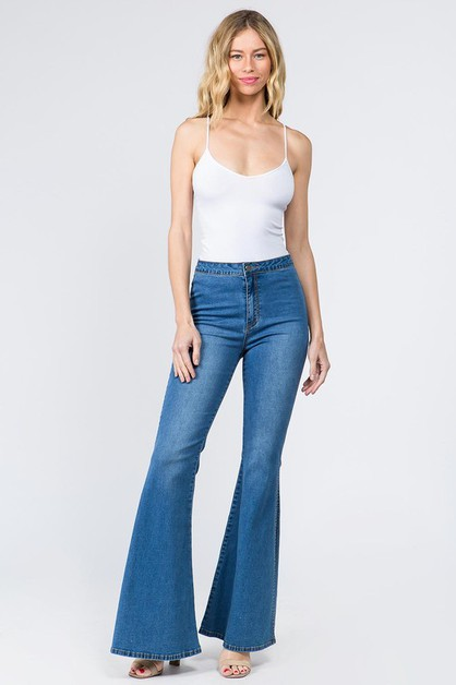 BELL BOTTOM DENIM JEANS - orangeshine.com