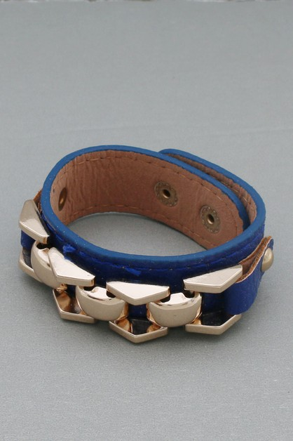 LEATHER MAGNETIC NON STRETCH BRACELE - orangeshine.com