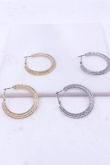 14K Gold Plated Hoop - orangeshine.com