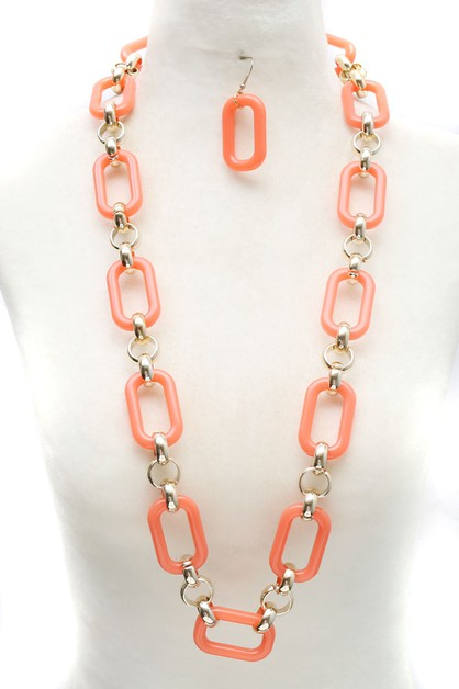 ACRYLIC LINK NECKLACE SET - orangeshine.com