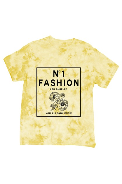 NUMBER 1 FASHION TIE DYE SHIRT - orangeshine.com