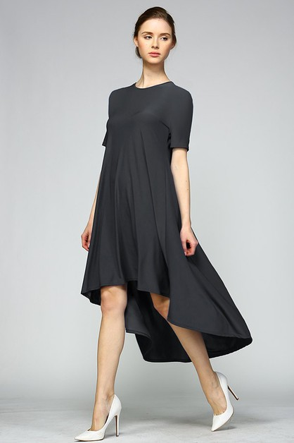 High Low Tee Dress - orangeshine.com