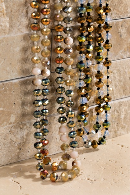Faceted Glass Bead Layering Necklace - orangeshine.com