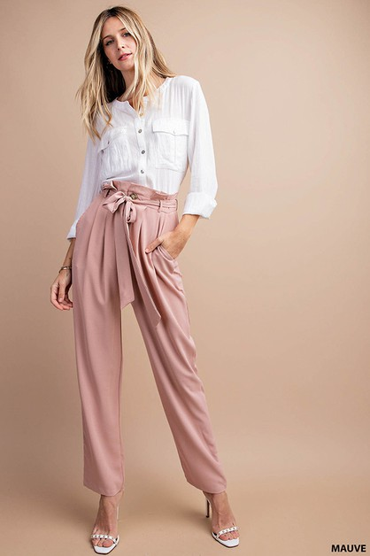 SUGAR BAG WAIST CIGARETTE PANTS - orangeshine.com