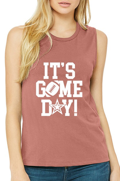 ITS GAME DAY MUSCLE TANK - orangeshine.com
