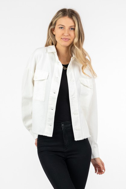 GARMENT WASHED COTTON JACKET - orangeshine.com