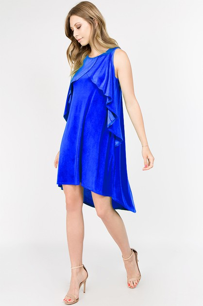 Ruffle Tank High Low Dress - orangeshine.com