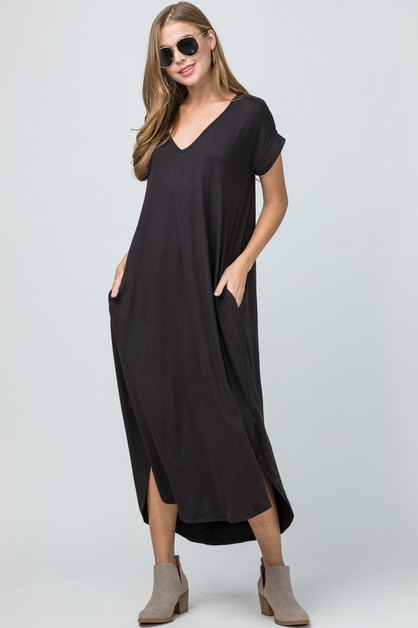 Jersey knit maxi dress - orangeshine.com