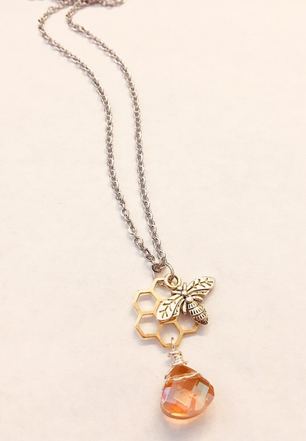 Bee hive necklace  - orangeshine.com