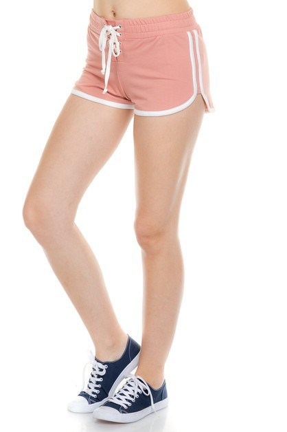 FRONT EYELET FRENCH TERRY SHORT PANT - orangeshine.com