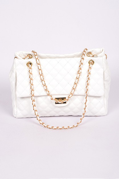 Quilted Chain Handbag - orangeshine.com