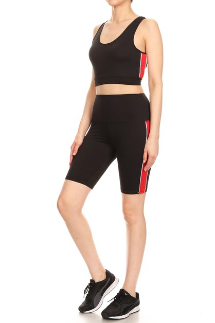 Activewear Set Biker Shorts Tank Top - orangeshine.com