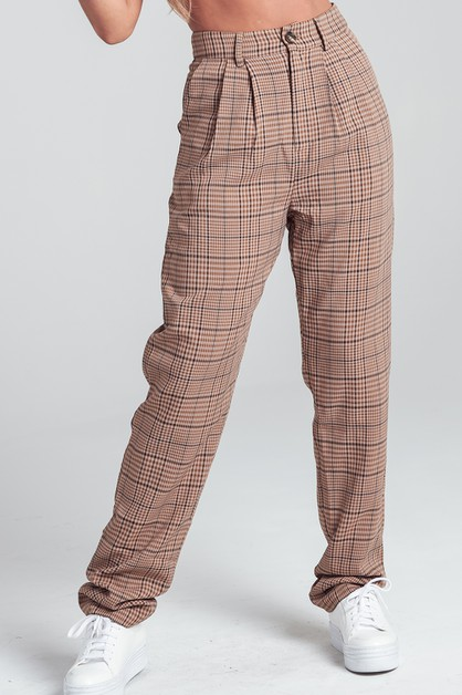 PLAID TROUSERS - orangeshine.com