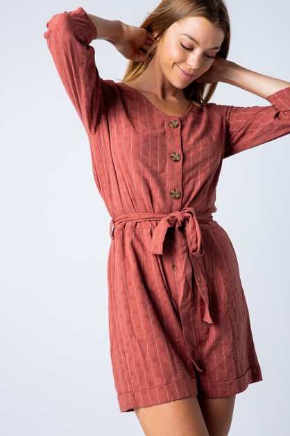 BUTTON UP ROMPER - orangeshine.com