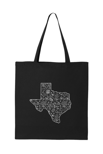 TEXAS PRINTED TOTE BAG - orangeshine.com
