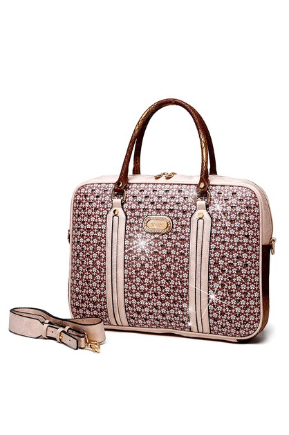 Twinkle Star Crystal Work Laptop Bag - orangeshine.com
