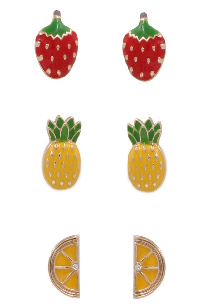 Strawberry Earrings Set - orangeshine.com