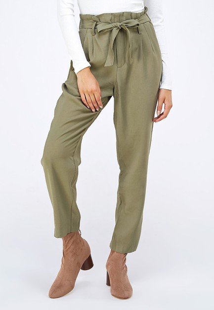SELF TIE BELT TROUSERS - orangeshine.com