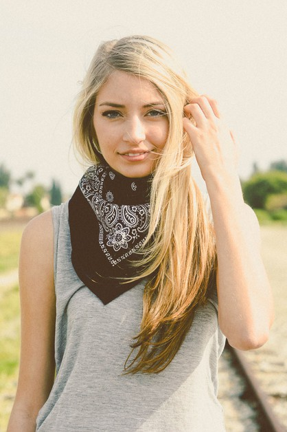 Cotton Bandana Headband and Scarf - orangeshine.com