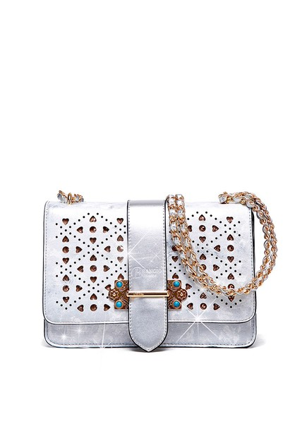 Sparkle of Hearts Clutch Evening Bag - orangeshine.com